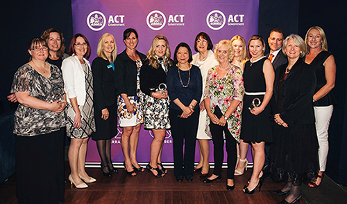 Photograph of the 2016 ACT Public Education Award winners