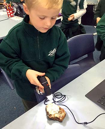 Students participating in Science week