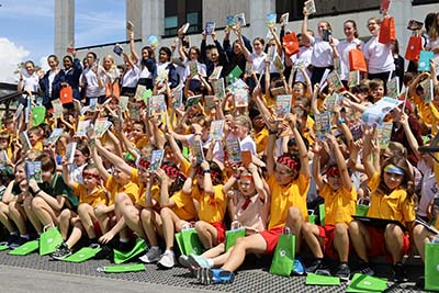 Young writers from ACT Public Schools attended the announcement of the new Australian Children's Laureate, held at the National Library of Australia this week.