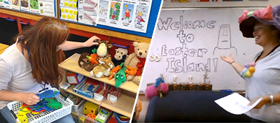 Learning support staff at Telopea Park School use technology to bring the classroom to students