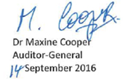 signature of Maxine Cooper with color