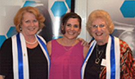 Photo of three award winners at the Australian Council for Education Leaders ACT Branch Awards 2016