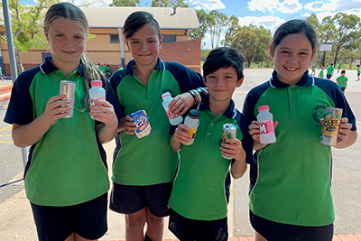 Bonython Primary School is going to war on waste in their school community, while also raising money for their Year 6 graduation activities.