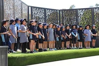 The Evatt Primary School community is thrilled with their new Indigenous garden and outdoor learning space.