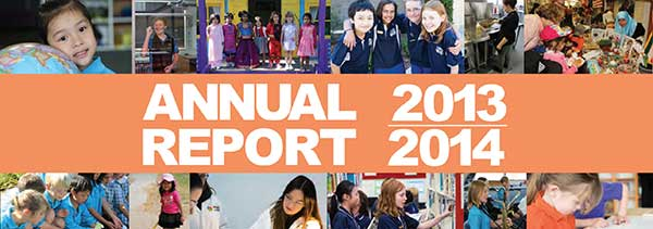 Annual Report 2013 - 2014 banner