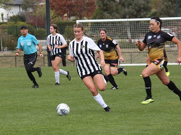Jade Brown is playing soccer