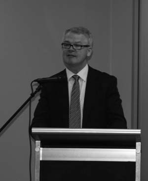 Photo of farewell address by Dr Jim Watterston the previous Director-General of the Education and Training Directorate.