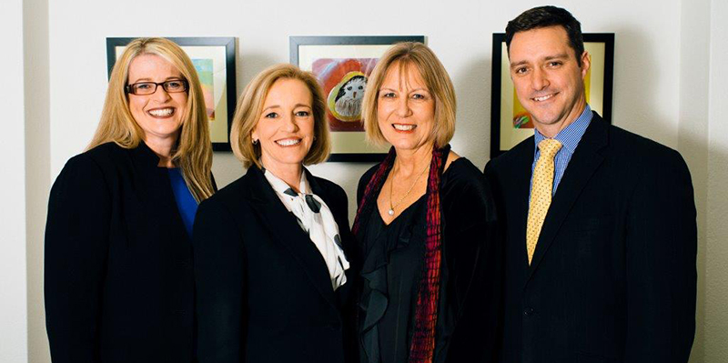 Photo of Senior Executive Team of the Education and Training Directorate, from left to right, Ms Meg Brighton, Ms Diane Joseph, Ms Joanne Garrisson, Mr Stephen Gniel