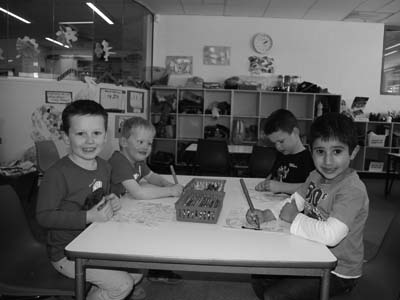 Photo of early childhood students sitting at their desk in a classroom during the launch of the Australian Early Development Index.