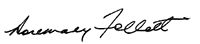 signature of Rosemary Follett AO