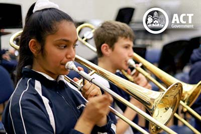 School bands from across Canberra participate in BandFest