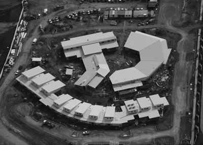 Aerial photo of the construction of Franklin Early Childhood School for children from birth to eight years of age