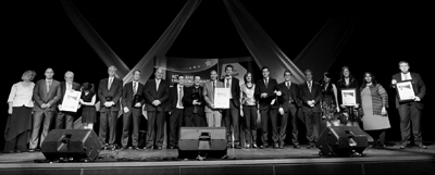 Photo of a large number of people receiving awards at the ACT Training Excellence Awards.