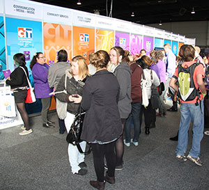 Photo of students visiting the 2012 CareersXpo