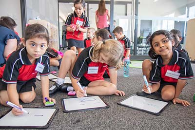 Margaret Hendry School, located in the new suburb of Taylor in Gungahlin's north, officially opened its doors for the first time on Monday.