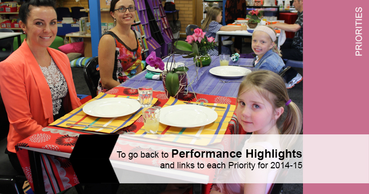 Photo of mothers and daughters at Fraser Primary School 'Paddock to Plate' meal