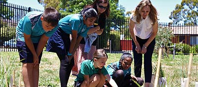 The Kaleen Primary School Green Team are leading the school community's sustainability efforts through multiple initiatives, including recycling, power use and fertiliser creation.