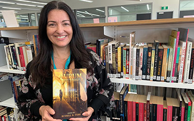 When Gungahlin College languages teacher Angela Rega started writing short stories more than 10 years ago, they were for her eyes only – she never imagined she would get national attention for them.