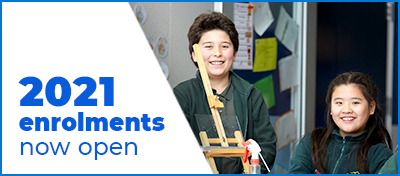 Enrolments are now open for all students from Preschool to Year 12 for next year. Enrolment applications made between 28 April 2020 and 5 June 2020 will receive an offer from 27 July 2020.