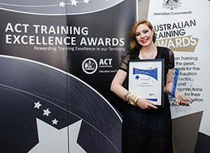 Photo of Sara Burke, ACT and Australian Apprentice of the Year in 2012