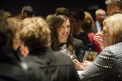 General crowd image, guests enjoying canapés and refreshments at the 2015 ACT Public Education Awards