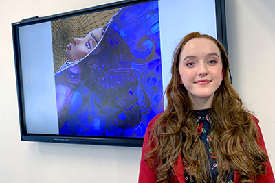 Narrabundah College student Sarah Millward, 16, loves creating digital worlds. Her work on digital art has allowed her to dream and create, taking her into the depths of her imagination.