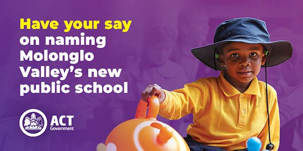 Have your say on the new school in Molonglo