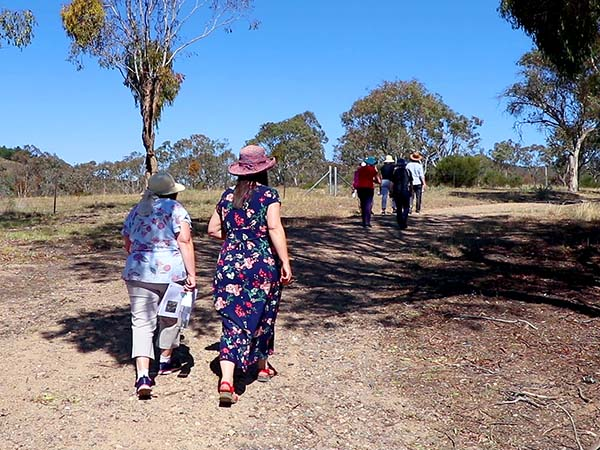 Teachers connect with the local landscape and bush