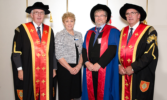 Photo of Chief Executive Officer Anne Ellis at the Australian Catholic University 2016 Graduation