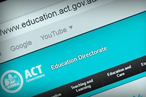Screen shot of website URLs