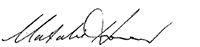 signature of Natalie Howson