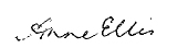 signature of Anne Ellis