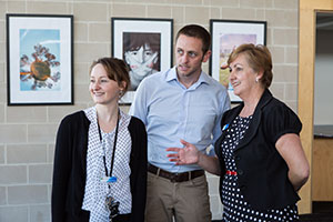 Photo of school leaders and teachers at the Gungahlin College