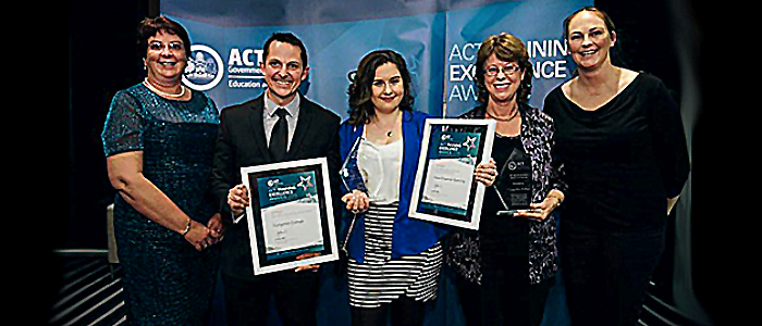 Photo of the recipients of the ACT Training Excellence Awards 2015