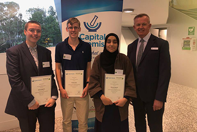 Thirty-three ACT public college students received support to further their education through the Capital Chemist College Scholarships award ceremony held last week.